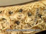 Mammoth Ivory Handcrafted Chinese Beauty Scenery Tusk Carving (37539)