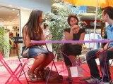 Interview de Camélia, l'arrière gauche et d'Aïcha, la pivot, du Narbonne Handball lors de la Grande Braderie