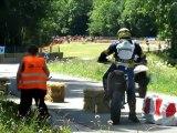 Course de côte de Villers-sous-chalamont 2012 - Descente de la 1ère montée de course des catégories Open, Motos anciennes et Educatives