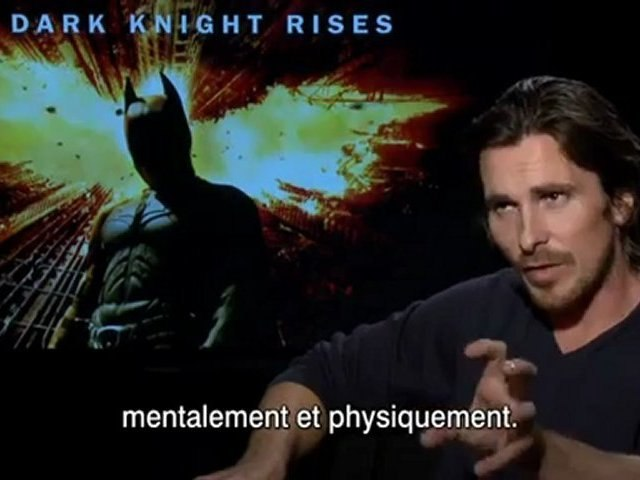 The Dark Knight Rises - Interview Christian Bale