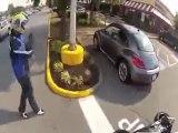 motos vs voiture accrochage