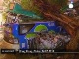 Typhoon Vincente lashes Hong Kong - no comment