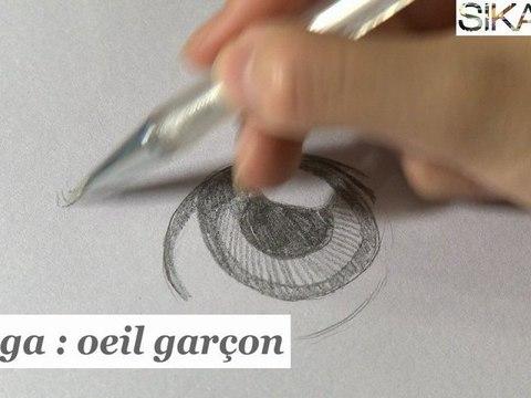 Manga : Comment dessiner un oeil  de garçon ? - HD