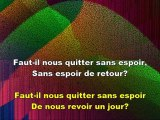 CHANT DES ADIEUX - Karaoke of Auld Lang Syne in French