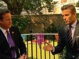 David Beckham visits Downing Street