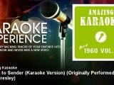 Amazing Karaoke - Return to Sender (Karaoke Version) - Originally Performed By Elvis Presley