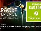 Amazing Karaoke - Don't Be Cruel (Karaoke Version) - Originally Performed By Elvis Presley