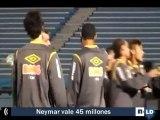Neymar entrena con el Santos en pleno proceso de negociación