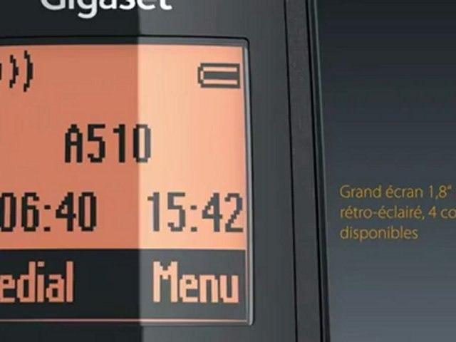 Gigaset A510: téléphone sans fil intelligent et design