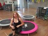 Monya fitness esercizio per i glutei sul trampolino elastico palestra ALBESE FITNESS CENTER