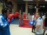 Technics at France Boxe Aix les Bains with my friend Bruce