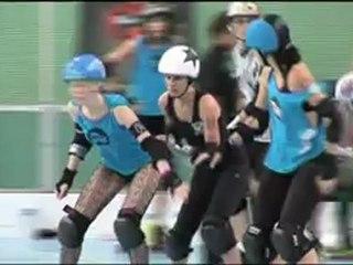 """Roller Derby - Reportage Orange sport sur la """"French Connection"""" de Toulouse 30 juin 2012"""