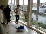 Máy chà sàn sân thượng nhà biệt thự, máy chà sàn đánh bóng sàn nhà,  máy chà sàn fiorentini Jolly 17