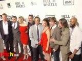 "Hell On Wheels"" Season 2 Premiere Arrivals Anson Mount, Common, Dominique McElligott"