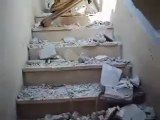 Syria فري برس حلب المشهد آثار القصف على بيت في المشهد 1 8 2012  Aleppo