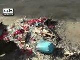 Syria فري برس حلب  المشهد   سقوط القذائف على الحي  1 8 2012 Aleppo