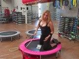 Monya fitness allenamento per addominali e glutei con trampolino elastico e fascia elastica