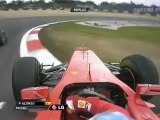 F1 2011 German GP Alonso Near a Crash With Schumacher [HD] Engine Sounds