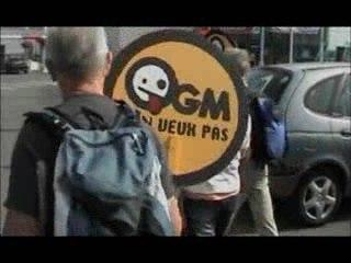 Action anti-ogm en supermarché