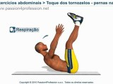 Toque dos tornozelos com as pernas na vertical