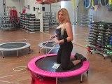 Monya fitness esercizi sul trampolino elastico utili per la respirazione ALBESE FITNESS CENTER