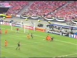 Morientes goal + substitution, 2000 Champions League Final (Real Madrid vs Valencia)