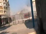 Syria فري برس لحظة سقوط القذائف من الطيران الحربي5 8 2012