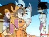 Goku y Trunks le venden  chocolates a Broly