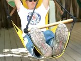 Resting At The Festival - Relaxing in a Sky Chair at the Michigan Renaissance Festival in Holly Michigan.  Independent business.