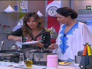Choumicha fatima zahra laaroussi - soupe crevettes riz et wok poulet légumes