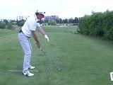 Golf: comment se placer devant la balle ?