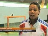 RINK HOCKEY - REPORTAGE ORANGE SPORT - Stage de l'équipe de France féminine de Rink hockey à Coutras (33) 4 juillet 2012