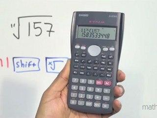 Calcular raíces utilizando una calculadora científica