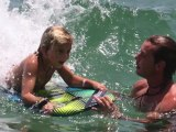 CelebrityBytes: Gavin and Kingston Get Their Boogie Board On