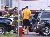 4 vehicle Crash on Acadia in Dieppe RCMP arriving