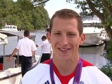 Ed McKeever wins 200m sprint kayak gold