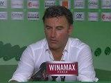Conférence de presse AS Saint-Etienne - LOSC Lille : Christophe  GALTIER (ASSE) - Rudi GARCIA (LOSC) - saison 2012/2013