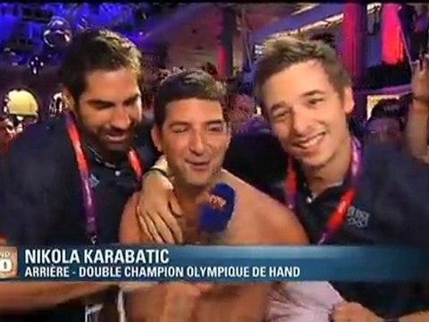 Nikola Karabatic et Xavier Barachet déshabillent le Club France