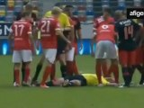 Luisao Knocks Out Referee | Fortuna - Benfica