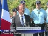 Hollande: tous les moyens de l'Etat mobilisés face à la violence
