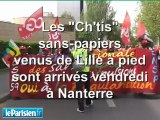 """La marche des """"Ch'tis"""" sans-papiers à Nanterre"""