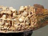 """Mammoth Ivory Handcrafted """"Eight Immortal"""" Carving 37492"""