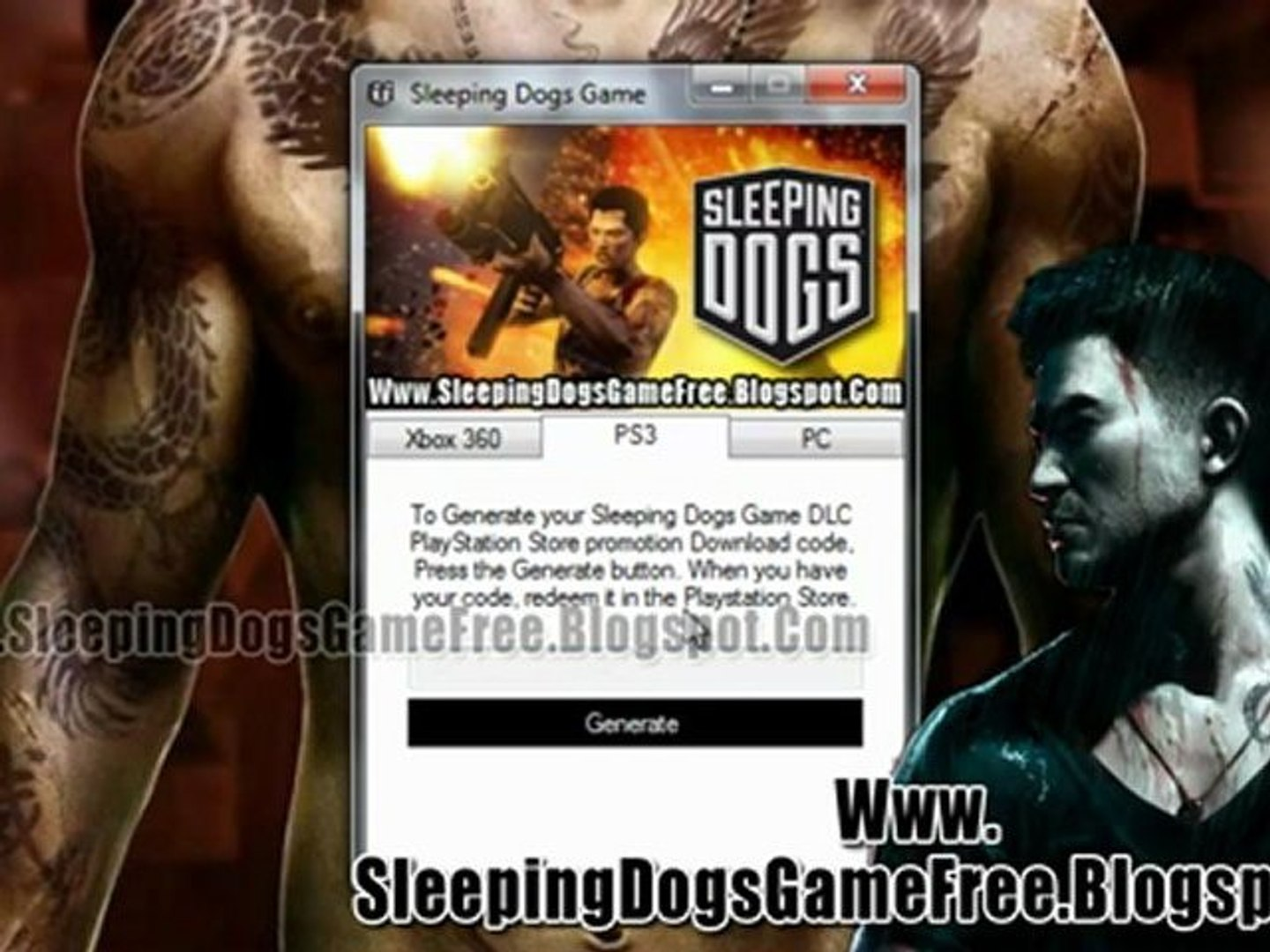 Sleeping Dogs Game Crack - Free Download - Xbox 360 - PS3 - PC