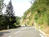 Caméra embarquer sur le Vmax pour une balade à moto dans la lozère et le Cantal.