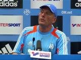 Conférence de presse Olympique de Marseille - FC Sochaux-Montbéliard : Elie BAUP (OM) - Eric HELY (FCSM) - saison 2012/2013
