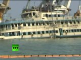 Wrecked Bulgaria seen above water as search on for last bodies