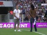 Jérôme Fernandez et Daouda Karaboué au coup d'envoi de TFC - ASSE