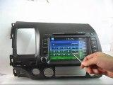 Honda Civic Radio DVD GPS, 2005-2009 Honda Civic DVD Player Bluetooth, Honda Civic DVD Navigation TV