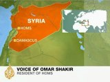 An activist in Homs speaks to Al Jazeera