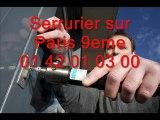Serrurier sur Paris 9eme 01 42 01 03 00 Serrure serrurerie 75009